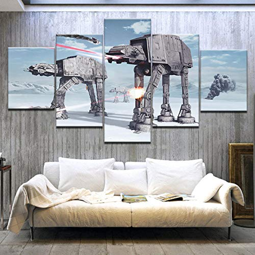Yyjyxd Wall Art Canvas Prints Paintings Home Decor for Living Room 5 Pieces Pictures Robot Dogs Movie Posters Framework-4x6/8/10inch,Without Frame