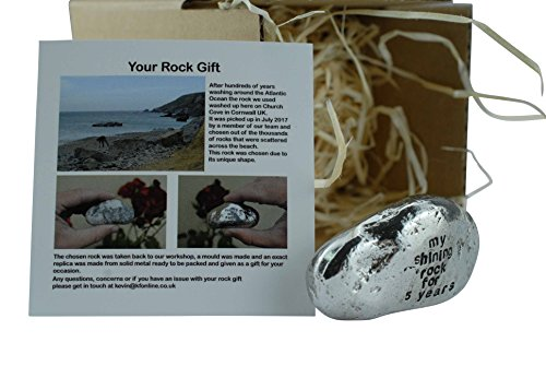 My Shining Rock For 5 Years - Solid Heavy Metal Fifth Anniversary Gift Idea by Pirantin