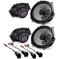 JL Audio C2-570x 5x7 2-way Car Audio Speakers (2Pair) W/ Metra 72-5600 Ford Speaker Harness 1998-UP