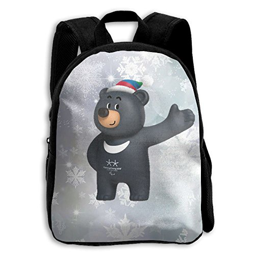Winter Olympic Mascots (Kids Bandabi Pyeongchang 2018 Winter Olympics Mascot Unisex Full 3D Printed Width Zipper Kids' Backpacks For Children)