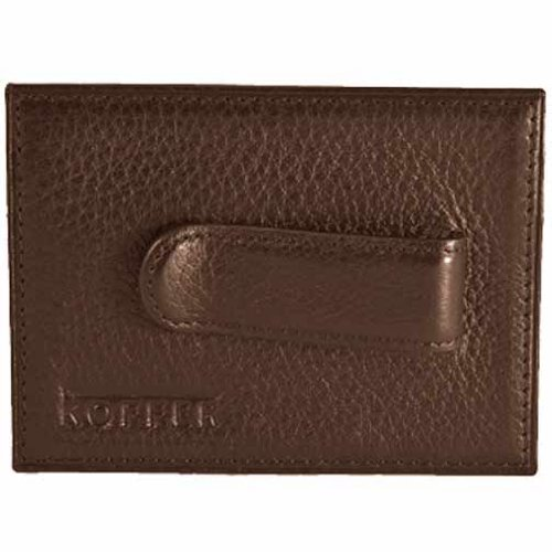 UPC 810468013531, Dr. Koffer Venetian Leather Front Pocket w/ Metal Clip (Brown)