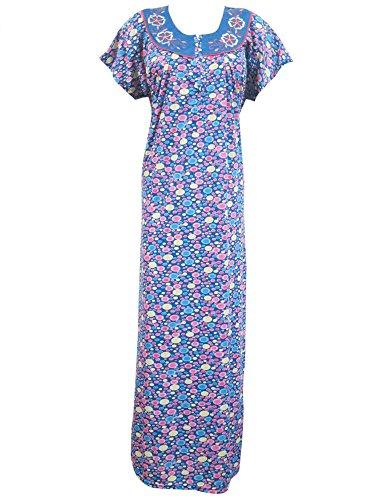 Womans Boho Caftan Kaftan Printed Long Muumuu Kaftans Nighty Loungerwear Dress Xl