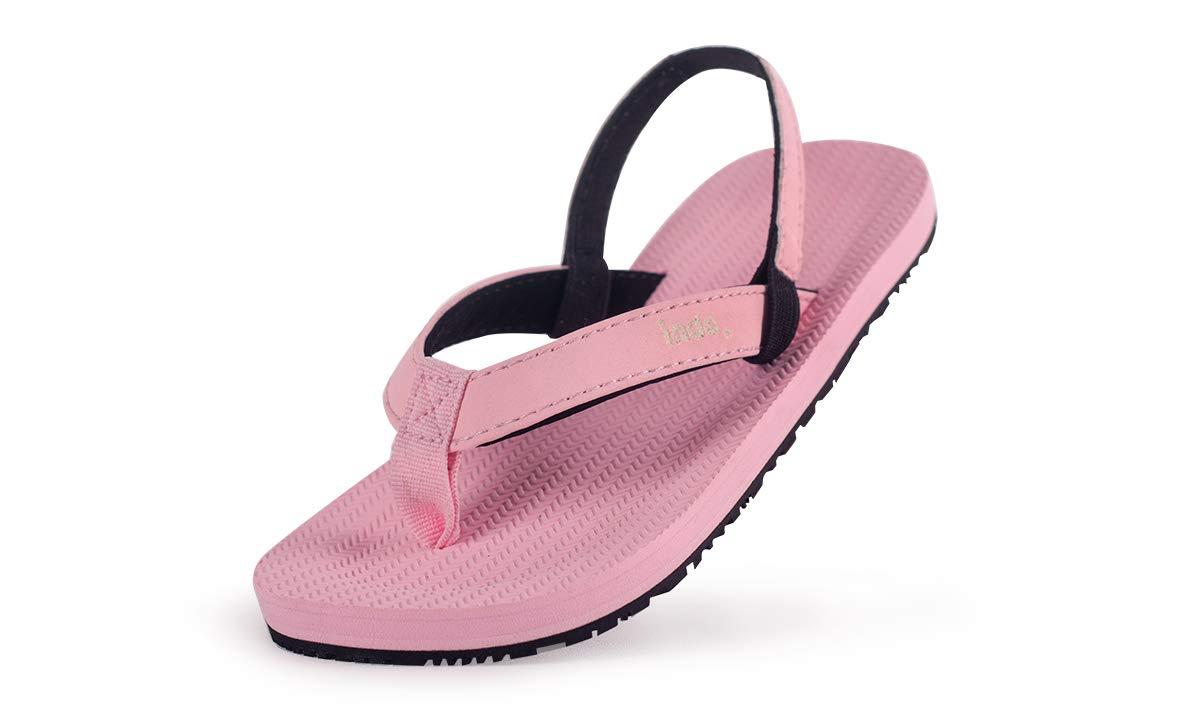 Indosole Toddler ESSNTLS Vegan Flip Flops, Size 10C, Pink by Indosole