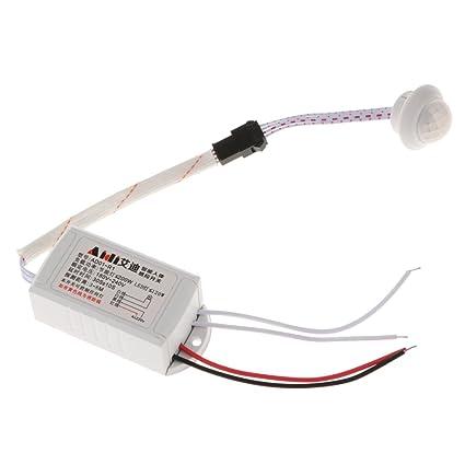 MagiDeal Lámpara de Techo Automática Luz LED PIR Detector de Movimiento Infrarrojo 180-240V