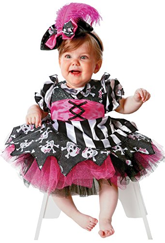 [UHC Girl's Abigail The Pirate Infant Toddler Fancy Dress Child Halloween Costume, 6-12M] (Baby Girl Marvel Costumes)