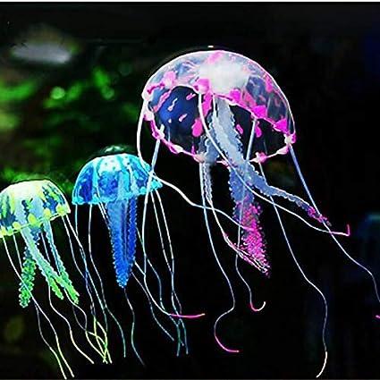 EEvER Decoración para el hogar Ideal como Regalo de Medusas Artificiales, Efecto Brillante, decoración