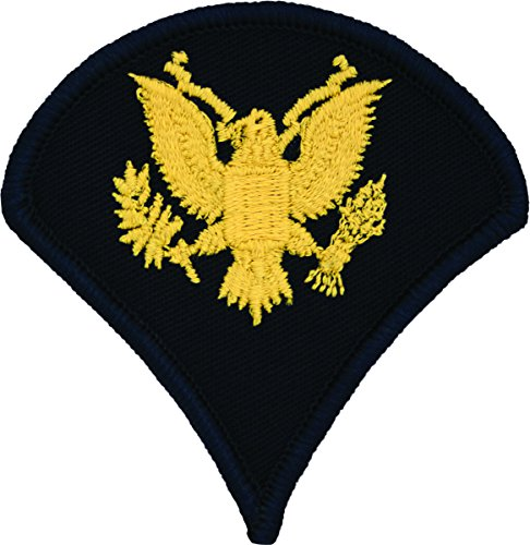Specialist E-4 Army Chevrons - Gold on Blue (Male)