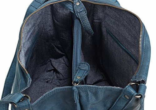 Greenburry Stainwashed Borsa a tracolla pelle 35 cm Blu