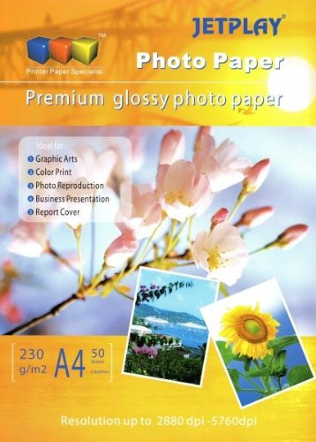 25, 50 Sheets ICE A3 210gsm High Gloss Glossy Photo Paper