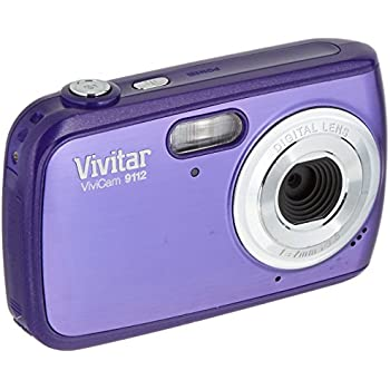 Vivitar 9112SL ViviCam 9 MP Digital Camera with 1.8-Inch LCD Body (Purple)