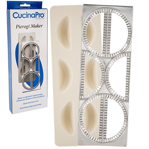 Pierogi Maker by Cucina Pro - Includes Tray and Press - Makes 6 Dumplings, Potstickers, or Peirogis at  a time by CucinaPro