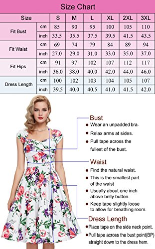 Damen 50s Vintage Retro Rockabilly Kleid Bodycon Pencil Kleid ...
