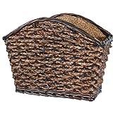 Safari Magazine Basket with Leopard Print Lining