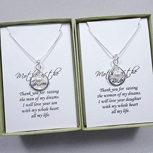 amazon com sterling silver infinity necklace mother of the bride