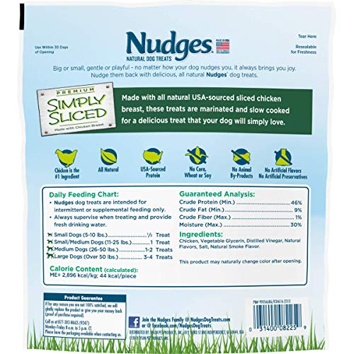 Nudges Natural Dog Treats Simply Sliced Made with Chicken Breast, 12 oz