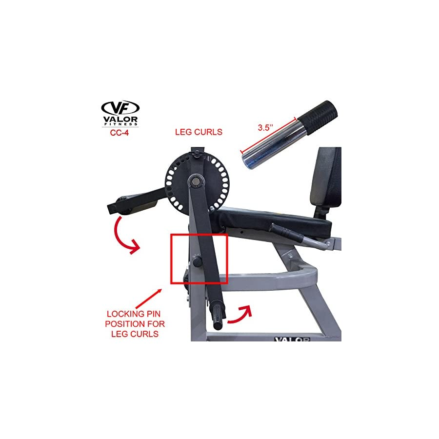 Valor Fitness CC 4 Adjustable Leg Curl Machine
