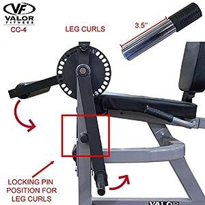 Valor fitness cc 4 adjustable leg curl machine : easy to assemble