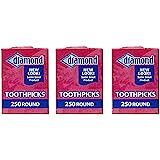 Diamond Round Toothpicks, Pack of 750