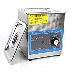KANING Digital Professional Ultrasoni Cleaning Machine Cleaner with Heater,Ultrasonic Cleaners Digital Timer for Cleaning Jewelry and Eyeglass 100-120V/40KH 60W 2 L Stainless Steel