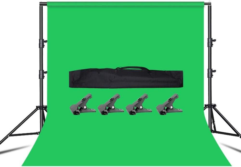 2 Sizes Background GZHENH Photo Backdrop Adjustable Muslin Studio Telescopic Design Portable Portrait Shooting Color : Black, Size : 200x200cm 8 Colors