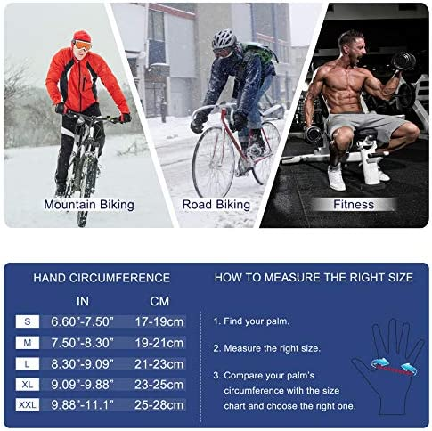 SIMARI Winter Gloves Men Women Touchscreen Running Gloves Cold Weather Warm Gloves Driving Cycling Texting Workout Training