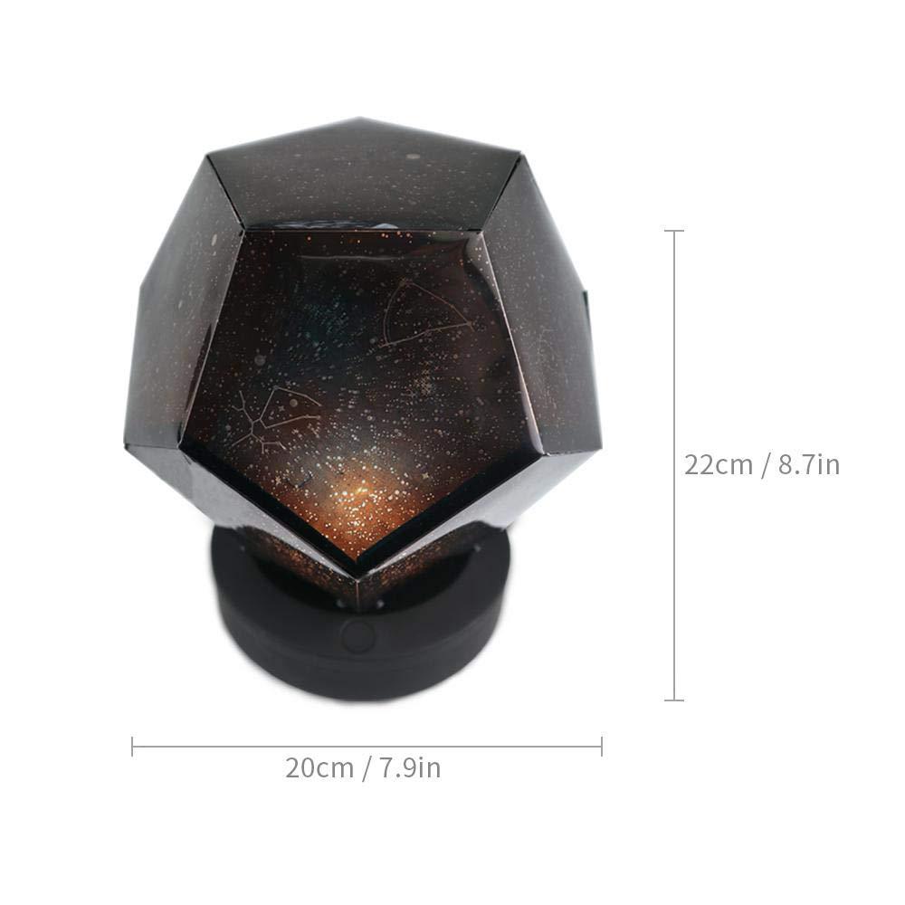 Pawaca - Lámpara de proyección de cielo estrellado, conexión USB ...