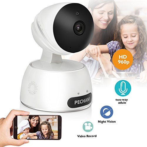 Cheapest Prices! PECHAM 960P HD WiFi Security Camera, Wireless IP Surveillance Camera with Motion De...