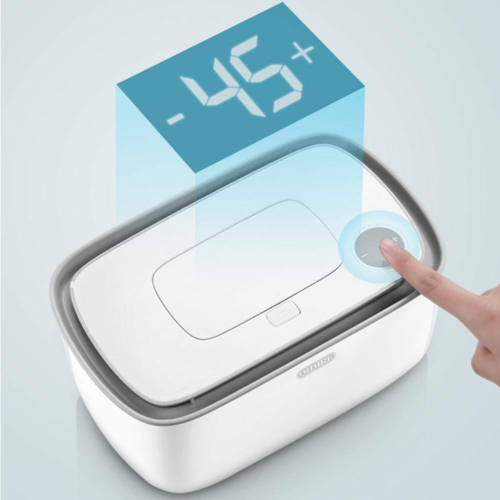 Lingettes Chauffage B/éb/é Hydratant Thermostat Chaud Et Humide Essuie-Tout Machine De Chargement Portable Lingettes Bo/îte-Rose