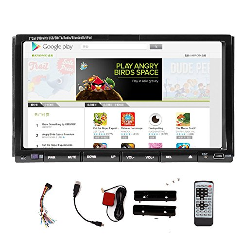 Navi 7 Inch Double 2 DIN In Dash Android Car 4.2.2 OS Car DVD Player stereo Stereo Capacitive Touch screen with GPS In-Dash Navigation WIFI Internet USB SD AM FM Car Radio