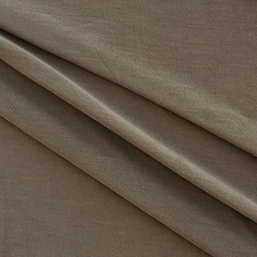 USA Made Premium Quality Jersey Knit Fabric by the yard - Dark Taupe - 1 - Premium Jersey