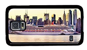 Hipster Samsung Galaxy S5 Case leather cover cruise ship new york city PC Black for Samsung S5