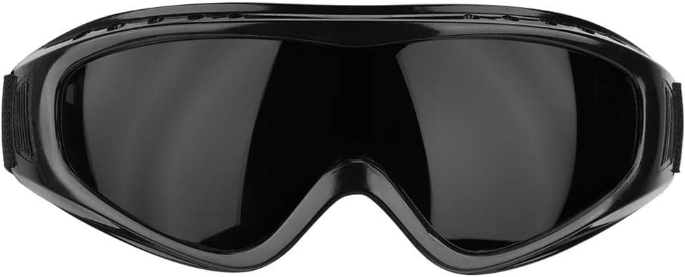 Gafas Protectoras de Trabajo, Lentes de Seguridad Protección para los Ojos, Gafas Protectoras Antideslizantes para el Ejercicio Diario, Golf, Motociclismo, Contra Salpicaduras(Lente negra)
