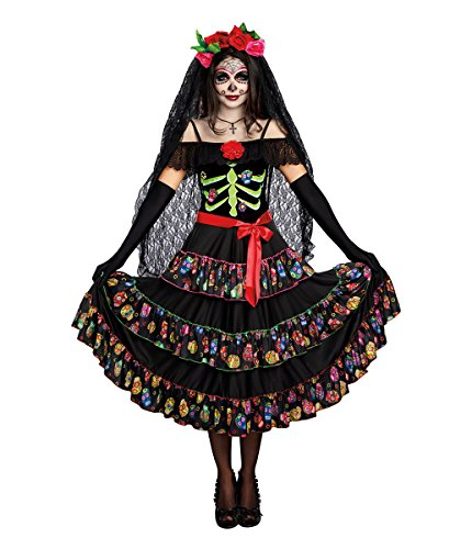 Dream Girl Couples Costumes (Dreamgirl Women's Lady of the Dead, Multi, S)