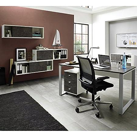 Lomado B/ürom/öbel Winkel//Eck Schreibtisch Set in wei/ß ● C-Fuss Schreibtische Eckverbindung /& Container ● Made in Germany