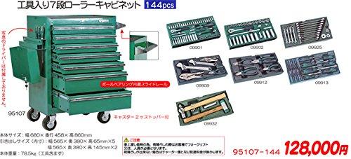 SATA サタ 工具セット ツールセット 144ピース 95107-144 B075R5469H