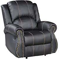 mecor 1+2+3 Sofa Sets Leather Recliner Sofa Suite Black/Brown for Living Room