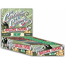 1 Pack Cheech and Chong 1 1/4 Hemp Cigarette Rolling Papers (50 Rolling Papers Per Pack) + Limited Edition Beamer Smoke Sticker. Used with Legal Smoking Herbs, Rolling Tobacco, Herbal Mixes