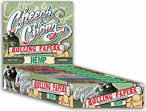 1 Pack Cheech and Chong 1 1/4 Hemp Cigarette Rolling Papers (50 Rolling Papers Per Pack) + Limited Edition Beamer Smoke Sticker. Used with Legal Smoking Herbs, Rolling Tobacco, Herbal Mixes (Liquid Hemp E)