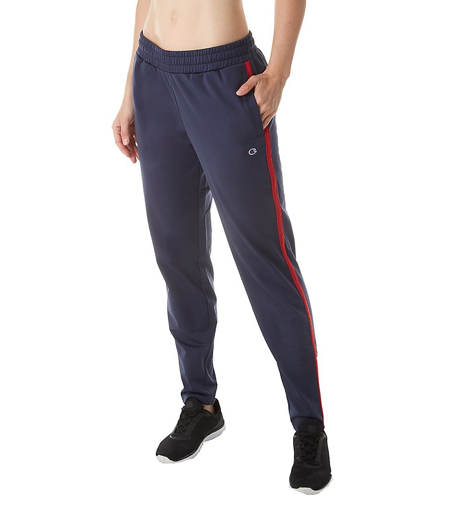 Champion Women's Track Pant, Imperial Indigo/Sideline Red, S