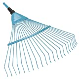 GARDENA combisystem Spring-Wire Rake: Fan rake for cleaning and aerating mossy lawn areas; with robust wire prongs, Duroplast-coated, working width 50 cm (3100-20)
