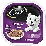 Cesar Gourmet Filets Wet Dog Food Filet Mignon Flavor, (Pack Of 24) 3.5-Oz Trays Larger Image