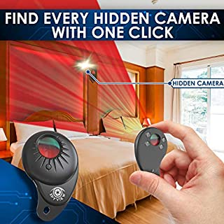 SpyView Compact Hidden Camera Detectors | Camera Detector for Hotels, AirBnbs & Dressing Rooms | Travel Friendly Hidden Camera Detector | Spy Camera Detector & Hidden Camera Scanner with Ultra LED