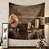 Gzhihine Custom tapestry Concept Gaming Dart with Wine Cork Figures - Fabric Wall Tapestry Home Decor