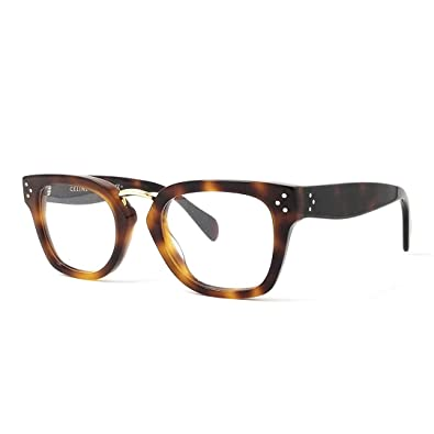 38689122d159 Amazon.com  Celine Metal Rectangular Eyeglasses 48 005L Havana  Shoes