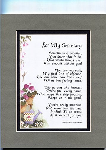 A Thank-You Gift Present Poem For A Great Secretary #174
