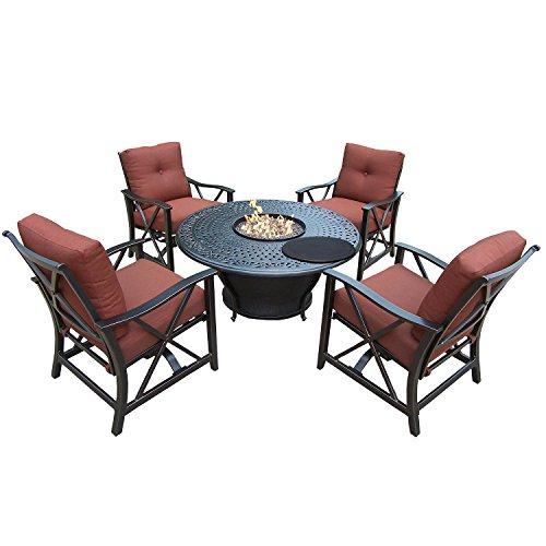 - Oakland Living Charleston Deep Sitting Chat Set, Antique Bronze