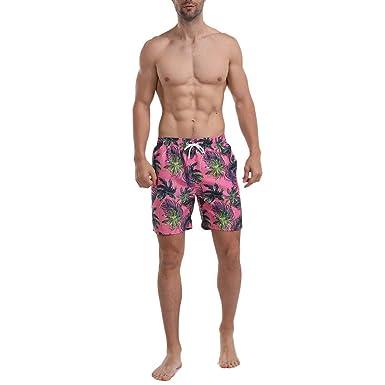 elegante en estilo comprar popular mejor coleccion OPAKY Pantalones Cortos para Hombres, Moda Atado Hawaiian ...