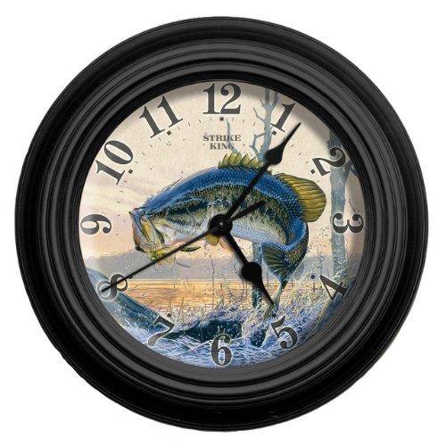 Reflective Art Strike King Wall Clock, 10-Inch