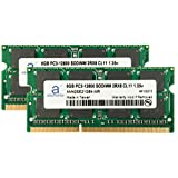 Adamanta 16GB (2x8GB) Laptop Memory Upgrade for Dell Alienware, Inspiron, Latitude, Optiplex, Precision, Vostro DDR3L 1600Mhz PC3L-12800 SODIMM 2Rx8 CL11 1.35v Notebook RAM