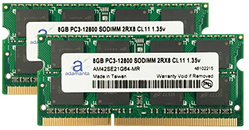 Adamanta 16GB (2x8GB) Laptop Memory Upgrade for HP Elitebook, Pavilion, Probook, ZBook DDR3L 1600Mhz PC3L-12800 SODIMM 2Rx8 CL11 1.35v Notebook RAM